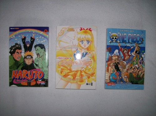 Naruto, Sailor Moon, One Piece