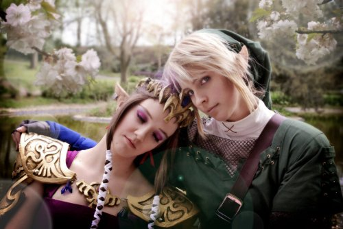 Link und Zelda Cosplay Photoshop