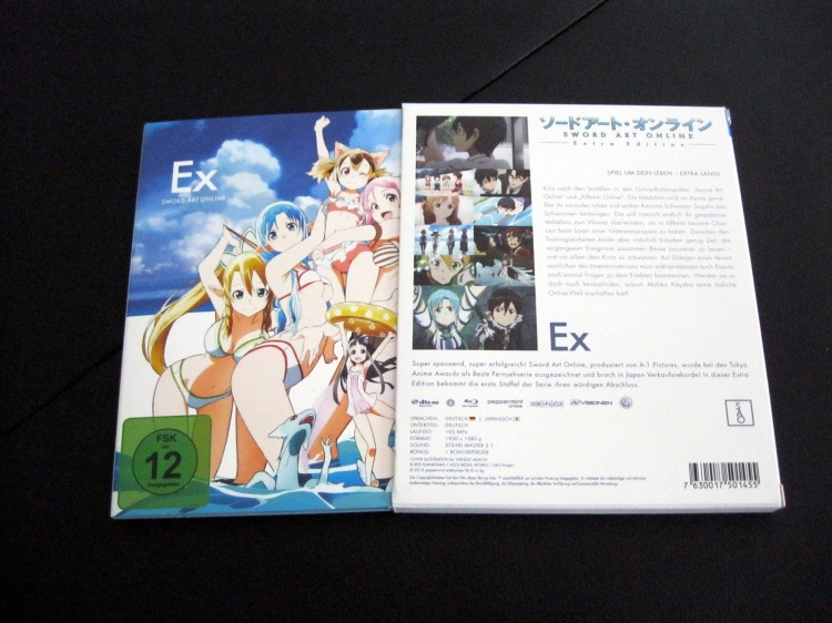 Sword Art Online SAO Extra Edition Blu-ray Cover Unboxing