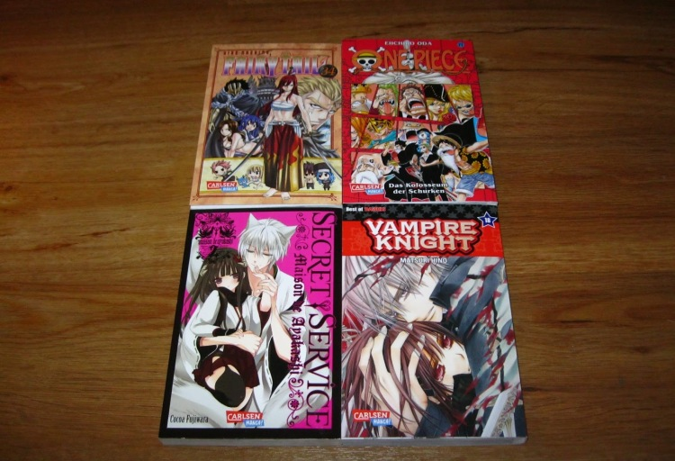 Carlsen Manga Loot One Piece Fairy Tail Vampire Knight Secret Service